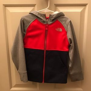 The North Face light weight zip up hoodie